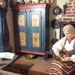 A look into the Swedish house in The European Village (first floor of museum)