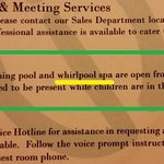 "In-room ""whirlpool spa"" reference."