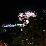 Our room's view of the fireworks over Navy Pier