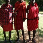 Our wonderful Maasai guards