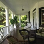 Lakewinds veranda overlooks the beautiful golf course