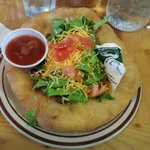 Indian Taco at Custer Battlefield Cafe