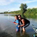 my son & I fishing.