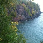 Presque Isle Park cliffs in the early fall. Loves exploring here.
