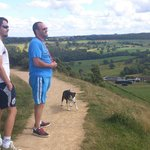 Walking and taking in panoramic views across the whole of Huddersfield and beyond.