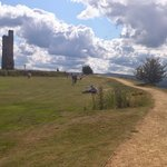 Top path around Castle Hill and Victoria Tower, Huddersfield.