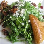 Maple roasted pear salad