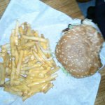 no this was my friend burger and fries it was full of just awesome goodness juicy