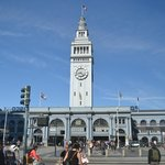 The Ferry Building on the Embarcadero behind the hotel