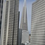 View of the TransAmerica Pyramid from our room