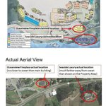 Comparison of their Property Map to Google Earth  (scroll down to see both images)