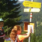 superb signposted hiking routes,with a points system making if fun for kids