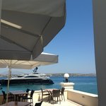 Nissia cafe with an amazing view of the bay