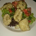 Salt amd pepper calamari salad