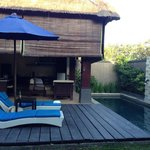 Private pool and resting area