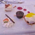 yummy desert at wedding