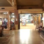 Looking towards the gift shop