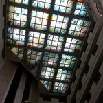 beautiful glass roof in the lobby area