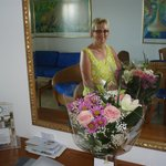 flowers from staff plus we had a few btts champers