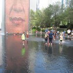 Millenium Park splash pad (3 blocks)
