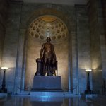 Statue of George Washington on main level