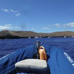 view of Molokini from the boat