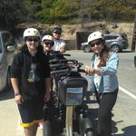 Our tour group with our parked Segways