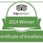 2014 TripAdvisor Certificate of Excellence