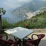 Breakfast terrace overlooking Positano