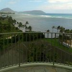 View from a staircase at the Kahala Hotel and Resort.