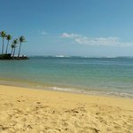 View from the private beach at the Kahala Hotel and Resort.