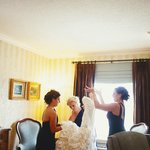 suite decor bridal prep