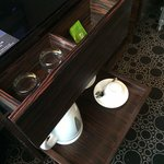 tea cup and amenities