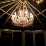 chandelier in breakfast room