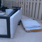 More outdoor furniture on the pool deck