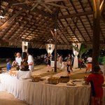 Amazing outdoor buffet on the beach!