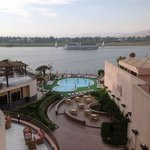 View of pool and the Nile from the tiny balcony.