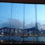 View of Hong Kong Skyline from Lobby Bar