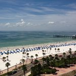 Clearwater beach view from our ocean view room