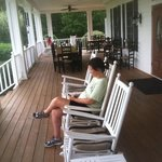 Awesome rocking chair front porch