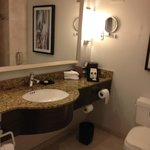 lovely big bathroom.  But where was the fan/vent?