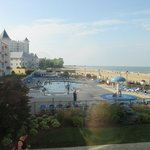 Picture taken from stairwell, is also a view from pool facing rooms in the Breakers East Section