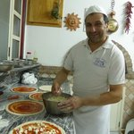 Pizza making by Chef