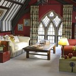 The vaulted upstairs sitting room