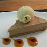 Sweet - Amorretto Cheesecake with icecream.