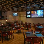 Plenty of space in Skybox Grill to relax and watch the best in sports/news