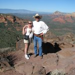 Darlene with Pete overlooking Sedona