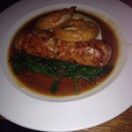 Special pork and rabbit sausage and mash