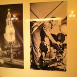 Pictures of Walt Disney along the walls