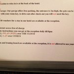 Hotel information was in alphabetical orders. Some rules best not to mentioned to guests would l